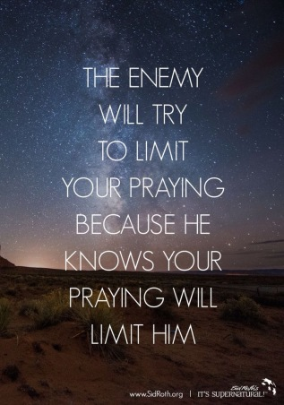 dont limit praying